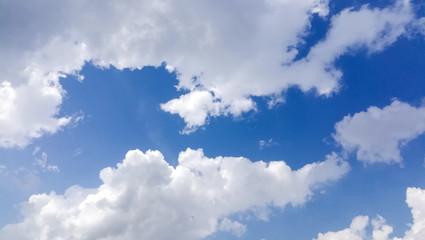 fresh clear blue sky with rain cloud
