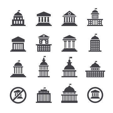Government icon set