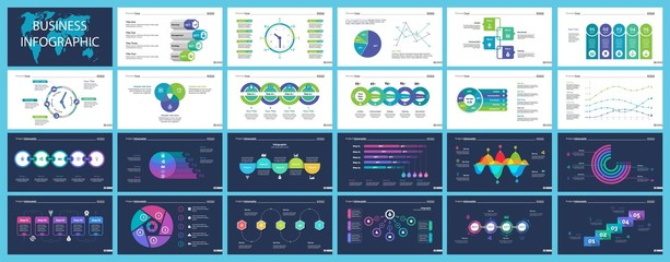 Business inforgraphic design set for management concept