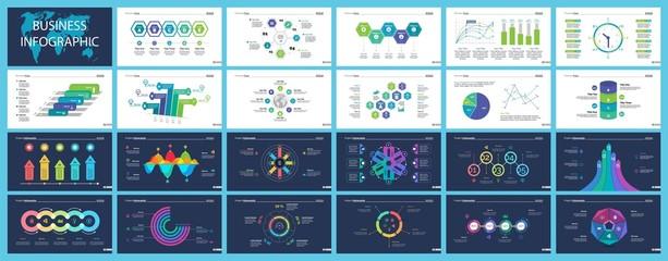 Business inforgraphic slide design set
