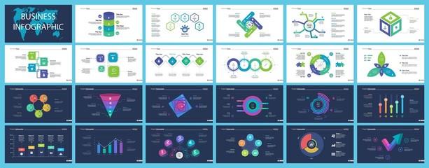 Information chart design set for business presentation concept