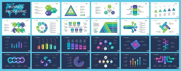 Set of accounting or economics concept infographic charts