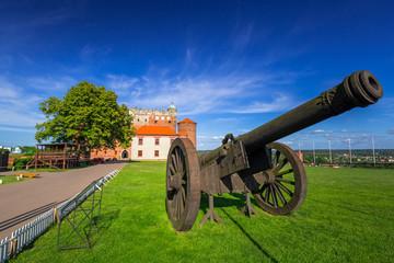 Cannon at the castle in Golub-Dobrzyn town, Poland