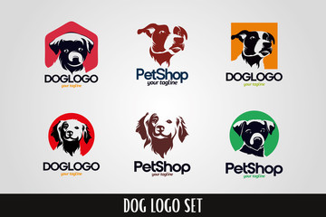Dog Pet Logo Template Set