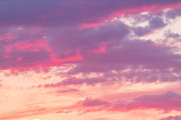 sky at sunset as background
