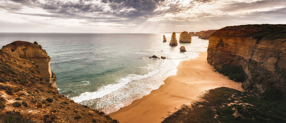 Tuinposter Kust The sunset over the Twelve Apostles, Victoria,Australia