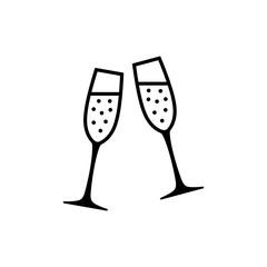 Champagne flutes icon