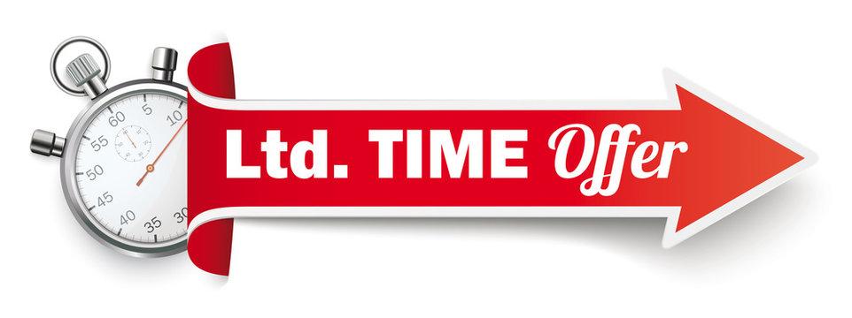 Long Red Covert Arrow Stopwatch Ltd Time Offer