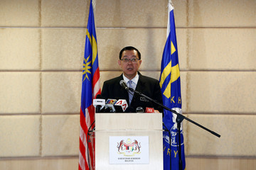 Malaysia's Finance Minister Lim Guan Eng speaks during a news conference in Putrajaya
