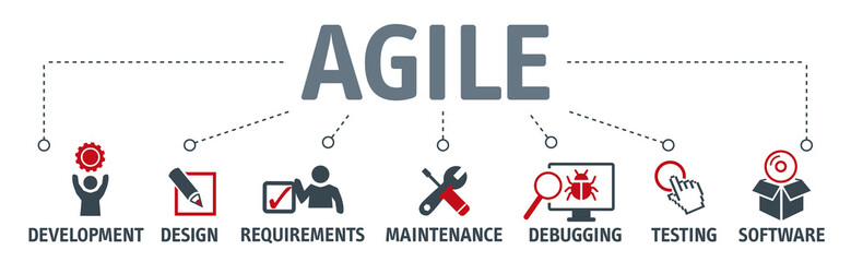 agile development vector illustration concept banner