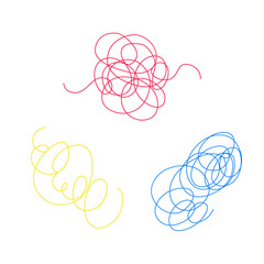 Vector set of colored chaotic lines