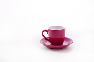 cup and saucer isolated on white background