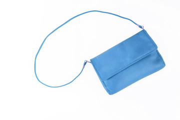 colorful fashionable clutch bag isolated on white background