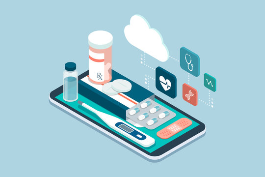 Medicine, healthcare and therapy app