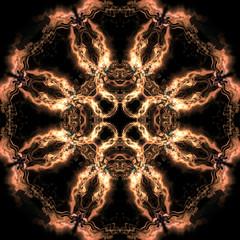 fire colors geometric kaleidoscope