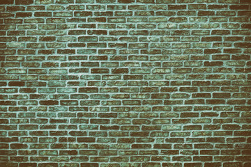 Retro grunge background of blue brick wall