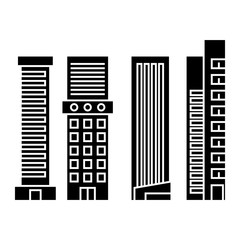 Skyscraper black icon, vector illustration. Skyscraper  concept sign