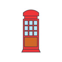 Call box line icon, vector illustration. Call box flat concept sign.