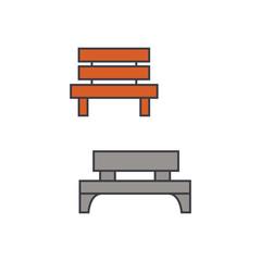 Park bench line icon, vector illustration. Park bench flat concept sign.