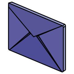 envelope mail isometric icon vector illustration design