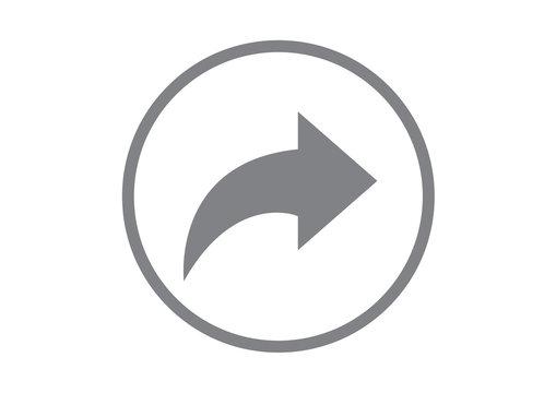 share it icon. reply send forward button social media