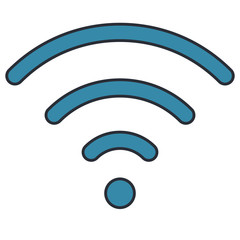 waves wifi signal area vector illustration design