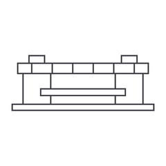 Stadium thin line icon, vector illustration. Stadium linear concept sign.