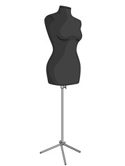 Object on white background, object, mannequin for seamstresses. Vector