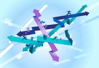 Labirinto di possibilità dove è impossibile trovare la direzione