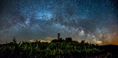 Sober, Lugo, Galicia, Spain: Long exposure night photography in Ribeira Sacra, river