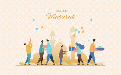 Eid al-Fitr greeting card vector