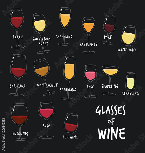 this is types of wine the glasses of wine you can use in the menu in the shop in the bar. Black Bedroom Furniture Sets. Home Design Ideas