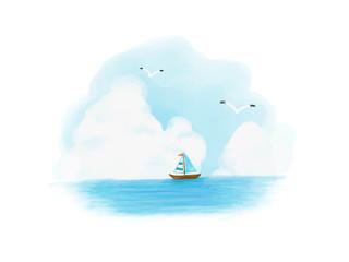 夏の海のスケッチ