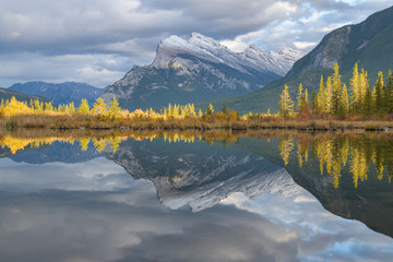 Vermillion Lakes with Mount Rundle near Banff, Canada