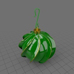 Textured Christmas tree ornament