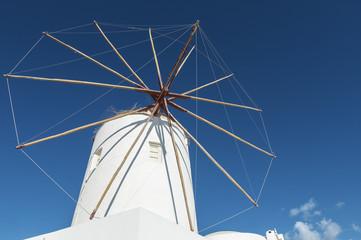 Iconic Windmill on Santorini