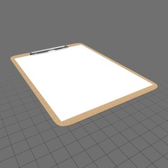 Clipboard with blank piece of paper
