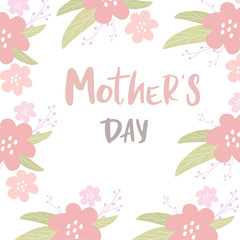 Happy Mother's day postcard. Lettering