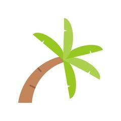 Curve Palm tree icon, flat design on white background