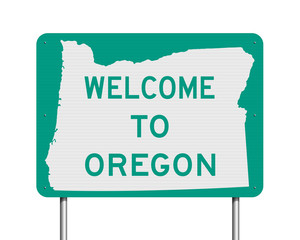 Welcome to Oregon road sign