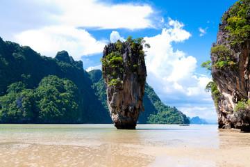 Thailand James Bond rock on Phang Nga bay