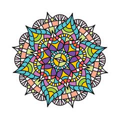 Vector symbol indian Mandala