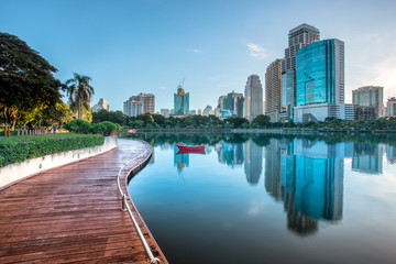 .Cityscape in middle of Bangkok,