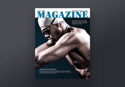 Sports Magazine Style Cover Layout