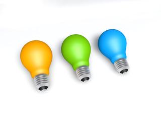 three color lamp