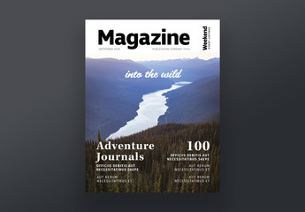 Outdoor Travel Magazine Style Cover Layout