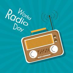 World Radio Day flat design vector illustration