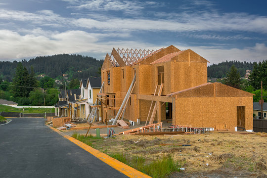 New North America Subdivision Home Construction