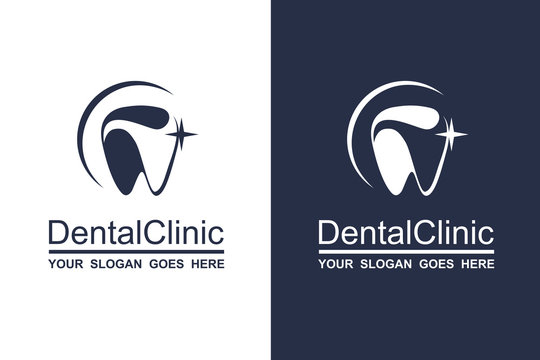 abstract dental icon collection for dental clinic