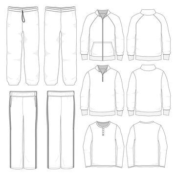 Vector tempalte for Men's lounge wear